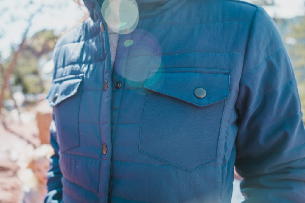 Huck Adventures reviews: United By Blue Bison Snap Jacket. Photo by Andrew Patra.