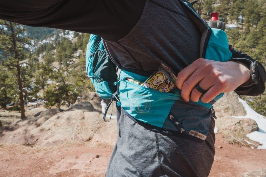Huck Adventures reviews: Ultimate Direction Mountain Vest 4.0 and Bobo Bars. Great combination.