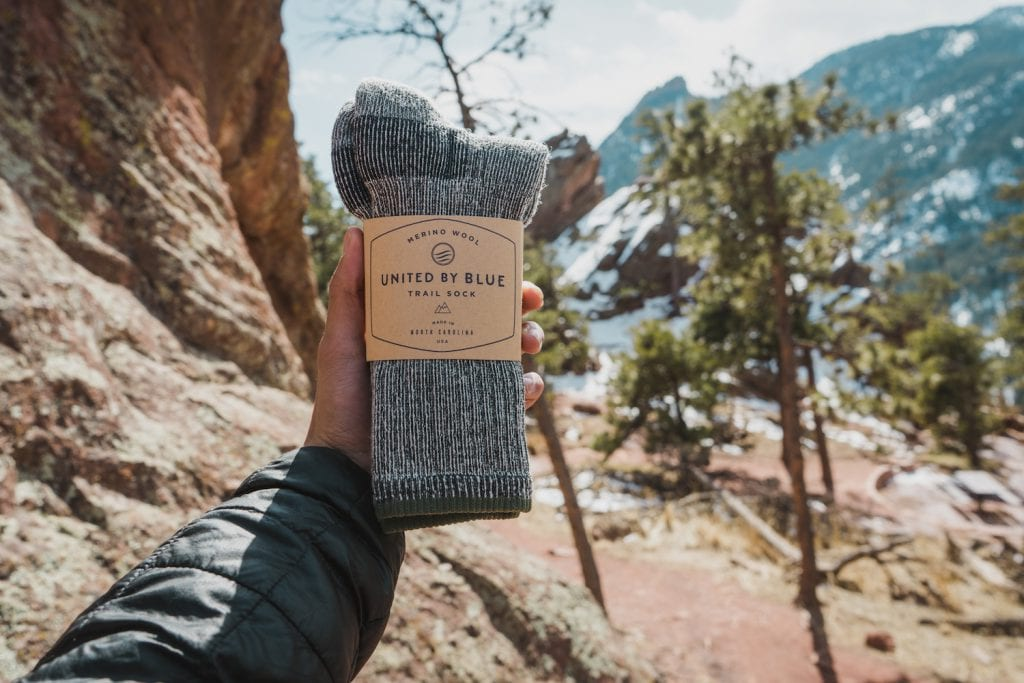Huck Adventures reviews: United By Blue Trail Sock.