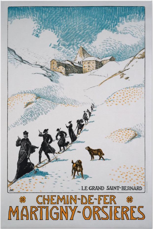 Chemin-De-Fer Martigny-Orsieres Ski Poster
