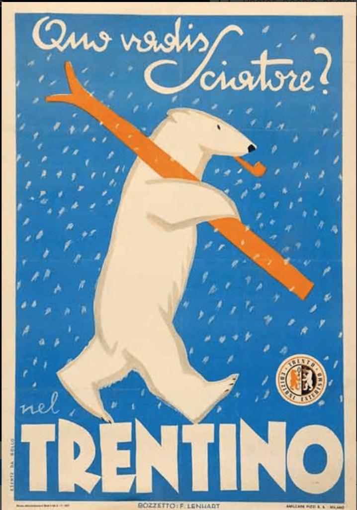 Trentino Ski Poster 1930s