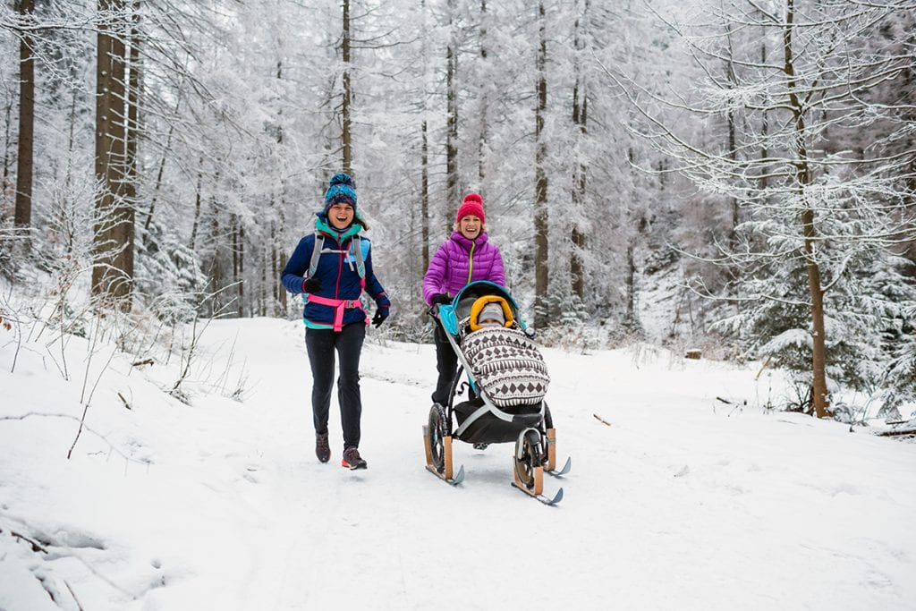 Moms who love snow sports