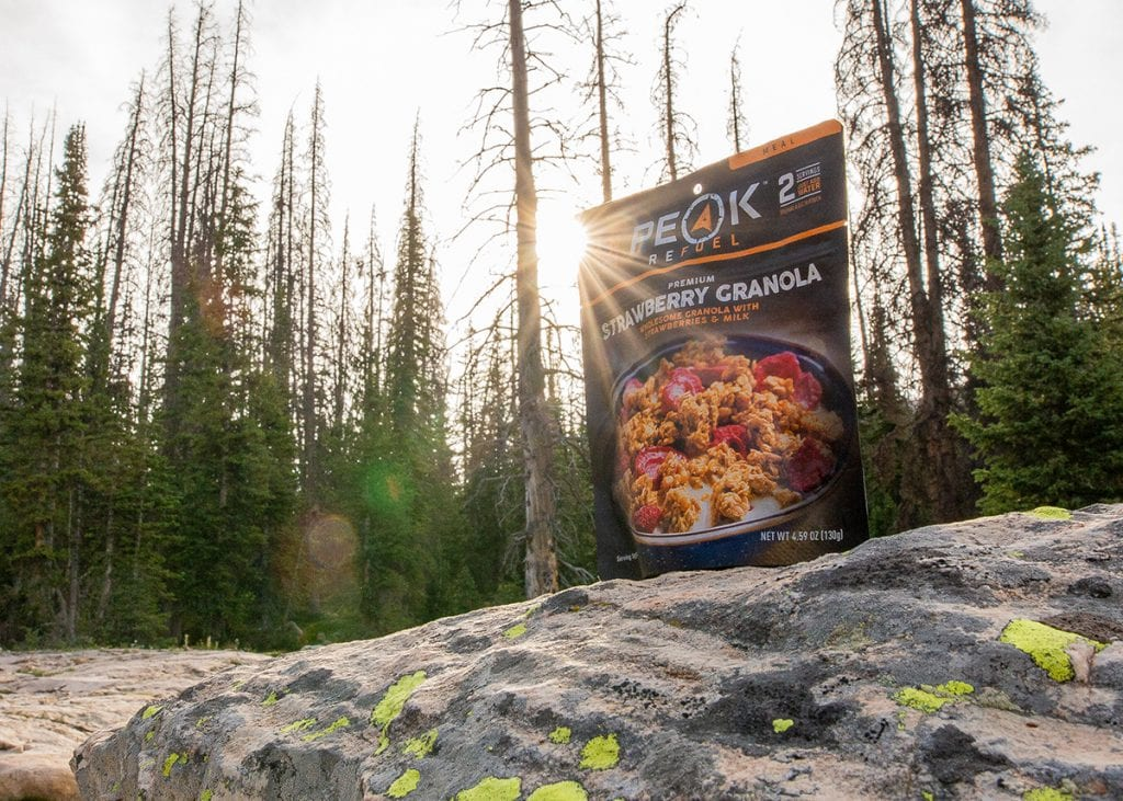 backpacking food ideas peak refuel granola