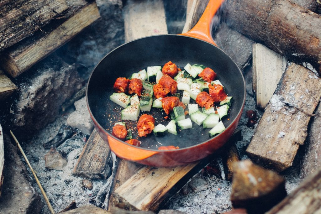 backpacking food ideas meat and veggies