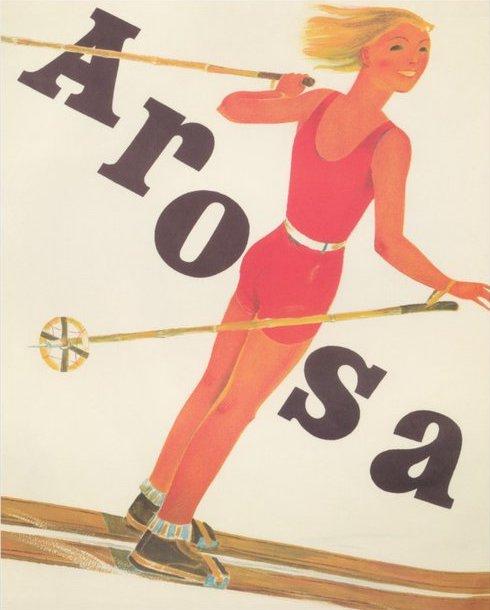 Arosa Ski Poster 1930s