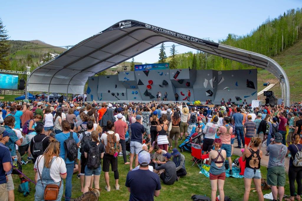GoPro Mountain Games IFSC World Cup Rock Climbing Crowd