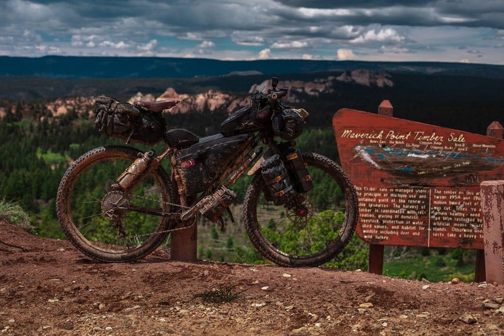 Muddy used mountain bike