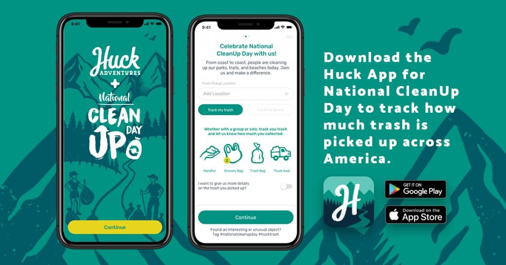 National Cleanup day partnership with Huck Adventures