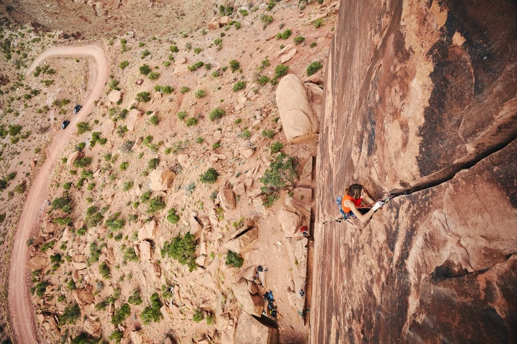 Crack Climbing in Moab