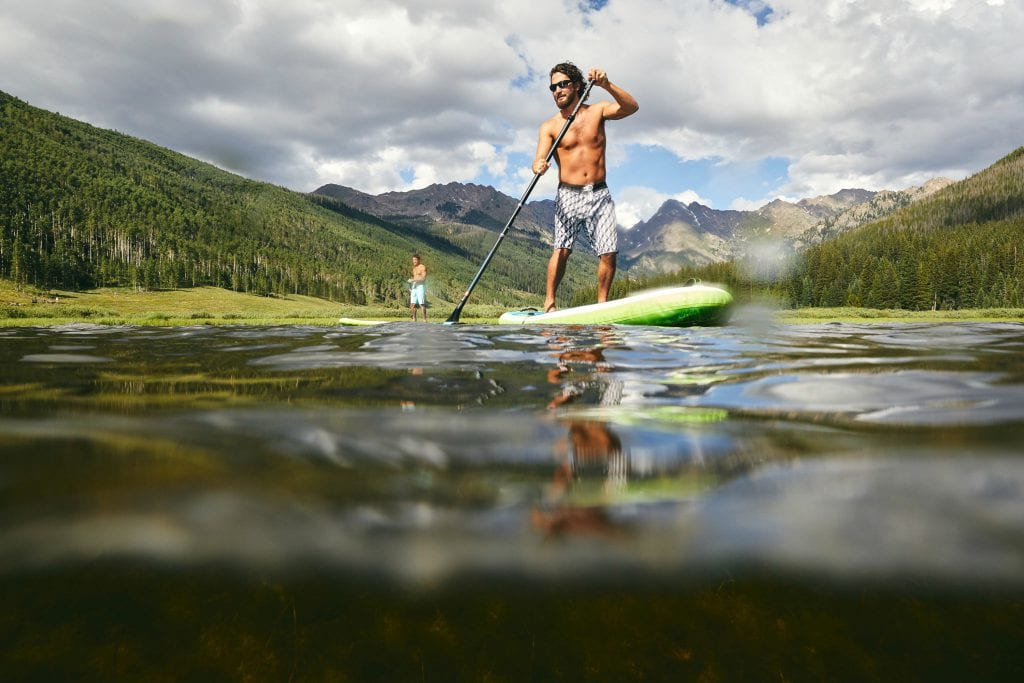 SUP in Vail, Colorado. Photo by Nic Daughtry