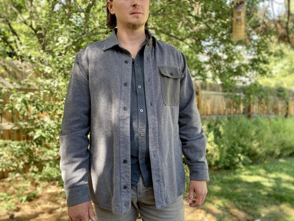United by Blue's Men's Flannel-Lined Salvaged Hemp Shirt Jacket